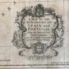 Arte: GRAN MAPA DE ESPAÑA Y PORTUGAL, 1743. RANPIN/TINDAL/SEALE. Lote 275087733
