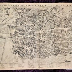 Arte: LA VILLA DE MADRID CORTE DE LOS REYES CATÓLICOS DE ESPAÑA. WIT, FREDERICK DE (1630-1706). Lote 275560313
