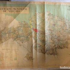 Arte: MAPA DIPUTACIÓN PROVINCIAL DE VIZCAYA 1971. Lote 275611123