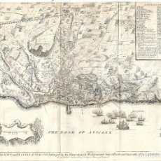 Arte: 1751 CA. MAPA ASEDIO A ALICANTE ARMADA BRITÁNICA EN LA GUERRA DE SUCESIÓN. (RAPIN - TINDAL - BASIRE). Lote 275835318