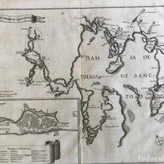 Arte: MAPA Y PLANO DE LA CIUDAD DE SALVADOR DE BAHÍA (BRASIL), 1662. JOAN BLAEU. Lote 276033408