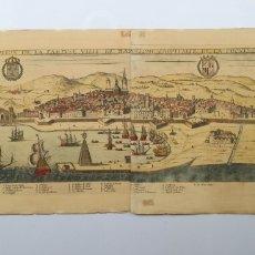 Arte: GRABADO MAPA VISTA DE BARCELONA AÑO 1645 ORIGINAL. Lote 276223203