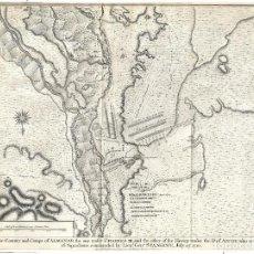 Arte: 1751 CA. MAPA BATALLA DE ALMENAR LLEIDA, LÉRIDA GUERRA DE SUCESIÓN. (RAPIN - TINDAL - BASIRE. Lote 276234793