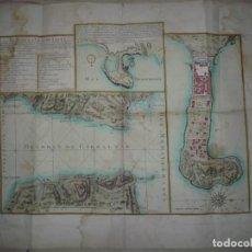 Arte: CARTOGRAFÍA ANTIGUA.MAPA CEUTA.PARIS, LONGCHAMPS. 1789. 60 CM X 46 CM.. Lote 276385753