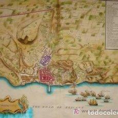 Arte: MAPA DE ALICANTE, ORIGINAL, J. BASIRE, 1745 [S. 18], COLOREADO. 48 X 40 CM. Lote 276588253