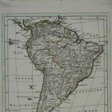 Arte: MAPA DE AMÉRICA DEL SUR, 1818. JOH. WALCH. Lote 276638203