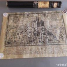 Arte: MAPA DEL MONT SAINT MICHEL DE 1654. Lote 276744578