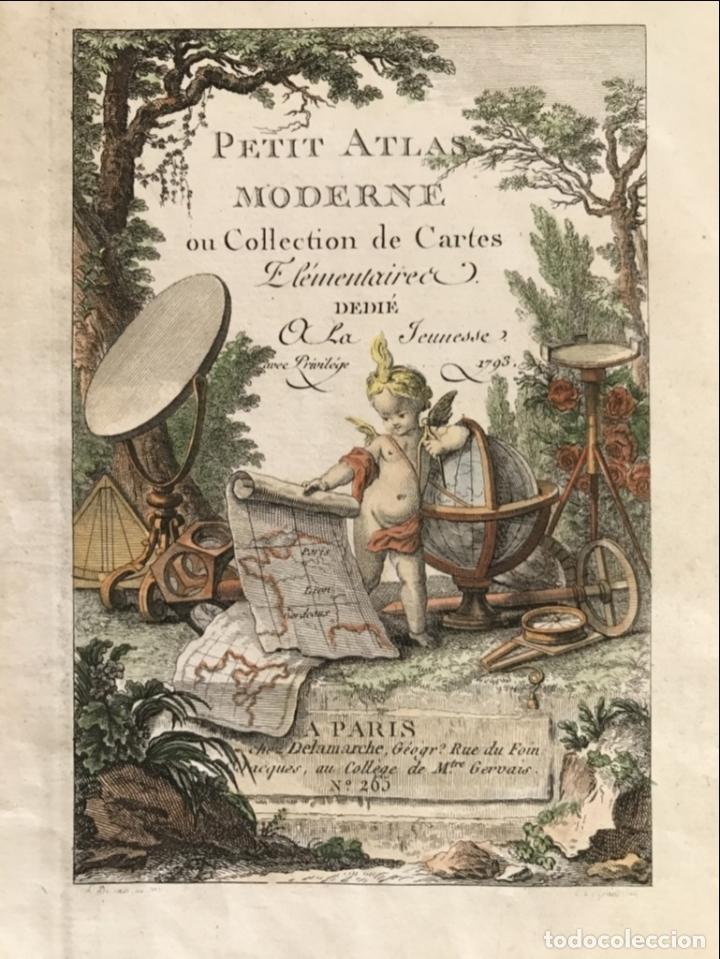 Arte: Portada y página de título de Atlas, 1793. Lattré/Delamarche - Foto 3 - 277635058
