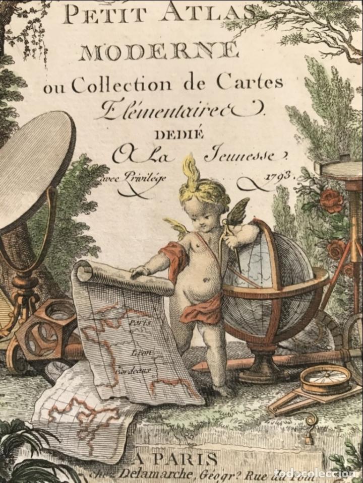 Arte: Portada y página de título de Atlas, 1793. Lattré/Delamarche - Foto 4 - 277635058