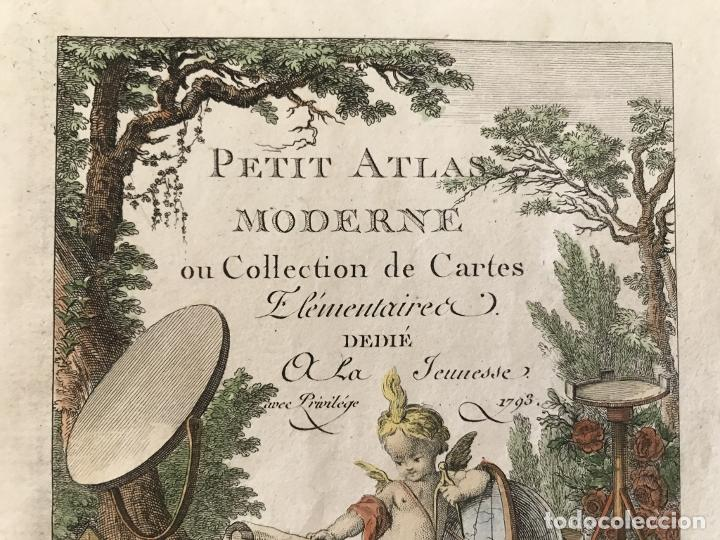 Arte: Portada y página de título de Atlas, 1793. Lattré/Delamarche - Foto 5 - 277635058