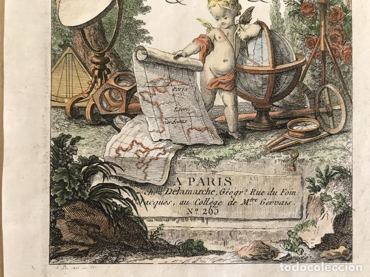 Arte: Portada y página de título de Atlas, 1793. Lattré/Delamarche - Foto 6 - 277635058
