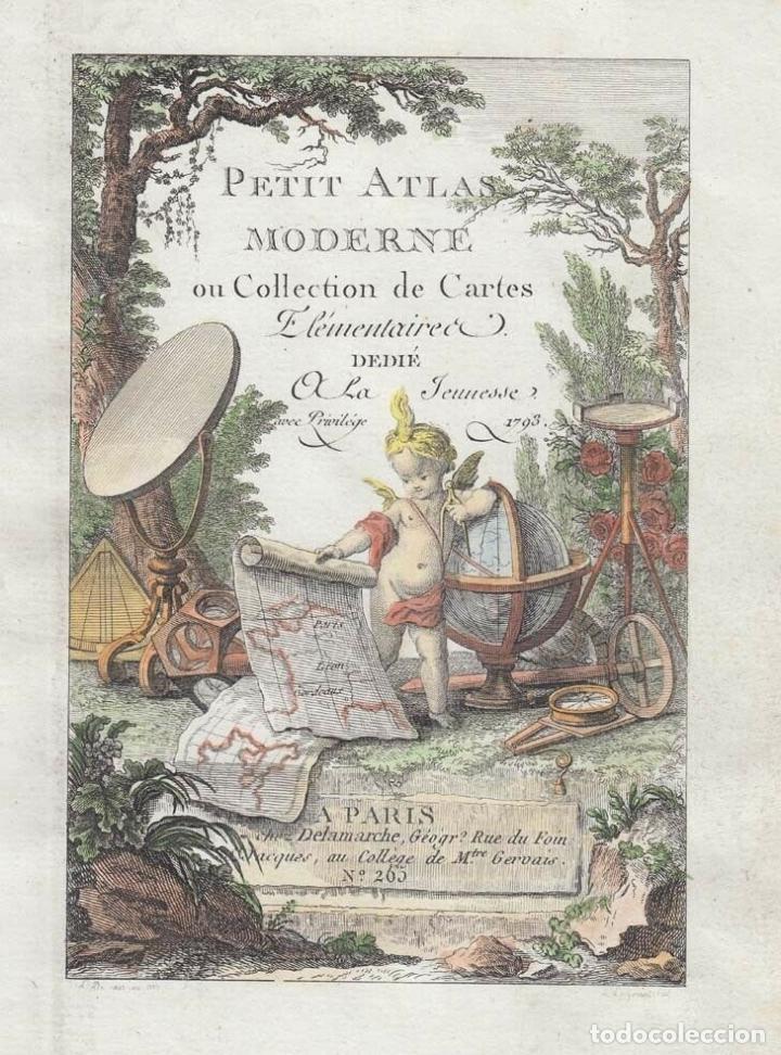 PORTADA Y PÁGINA DE TÍTULO DE ATLAS, 1793. LATTRÉ/DELAMARCHE (Arte - Cartografía Antigua (hasta S. XIX))