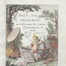 Arte: PORTADA Y PÁGINA DE TÍTULO DE ATLAS, 1793. LATTRÉ/DELAMARCHE. Lote 277635058