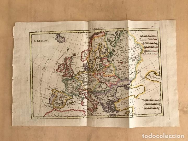 Arte: Mapa de Europa, 1781. Bonne / Raynal - Foto 2 - 277640088