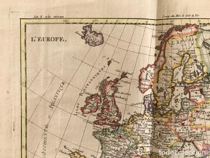 Arte: Mapa de Europa, 1781. Bonne / Raynal - Foto 4 - 277640088