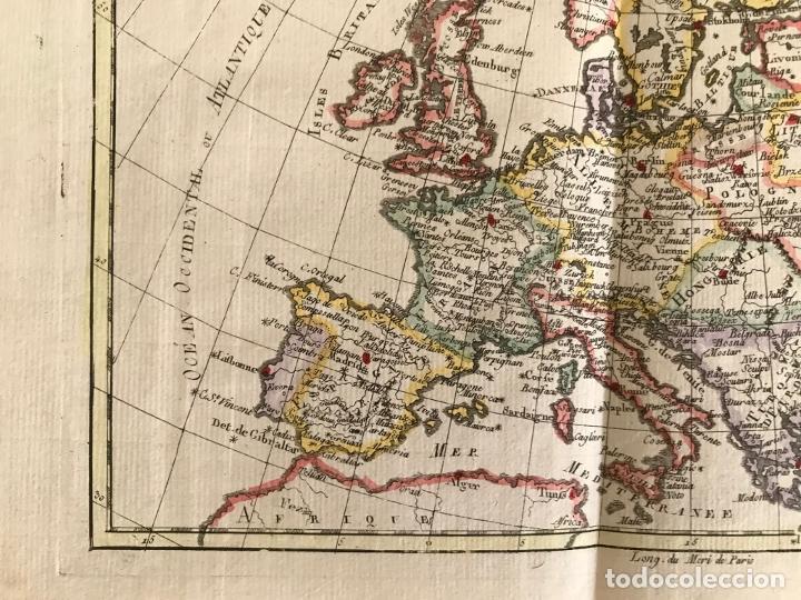 Arte: Mapa de Europa, 1781. Bonne / Raynal - Foto 8 - 277640088