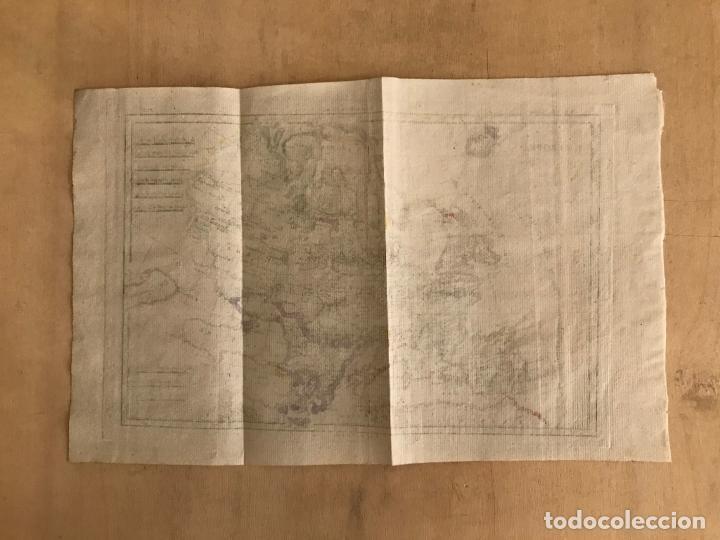 Arte: Mapa de Europa, 1781. Bonne / Raynal - Foto 10 - 277640088