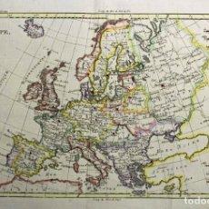 Arte: MAPA DE EUROPA, 1781. BONNE / RAYNAL. Lote 277640088