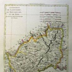 Arte: MAPA DE LANGUEDOC, ROSELLÓN, FOIX Y PROVENZA ( SUROESTE DE FRANCIA), 1788. R. BONNE. Lote 277642393