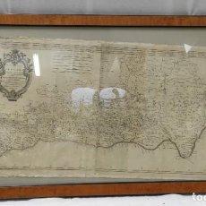 Arte: MAPA DE EL REINO DE GRANADA Y EL VALLE DE LECRÍN EN 1761. MAPA DE TOMÁS LÓPEZ.. Lote 278368013