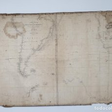 Arte: CARTA GENERAL DEL OCÉANO ATLÁNTICO MERIDIONAL - EXMO MINISTRO D. JOAQUÍN DE FRIAS - MADRID, 1840. Lote 280194308
