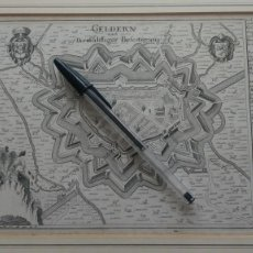 Arte: GABRIEL BODENEHR 1664-1758 GRABADO SIGLO XVI O XVII MAPA DE GELDERN ALEMANIA. Lote 280514038
