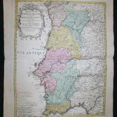 Arte: GRAN MAPA A COLOR DE PORTUGAL, 1736. HOMANN/NOLIN. Lote 281935373
