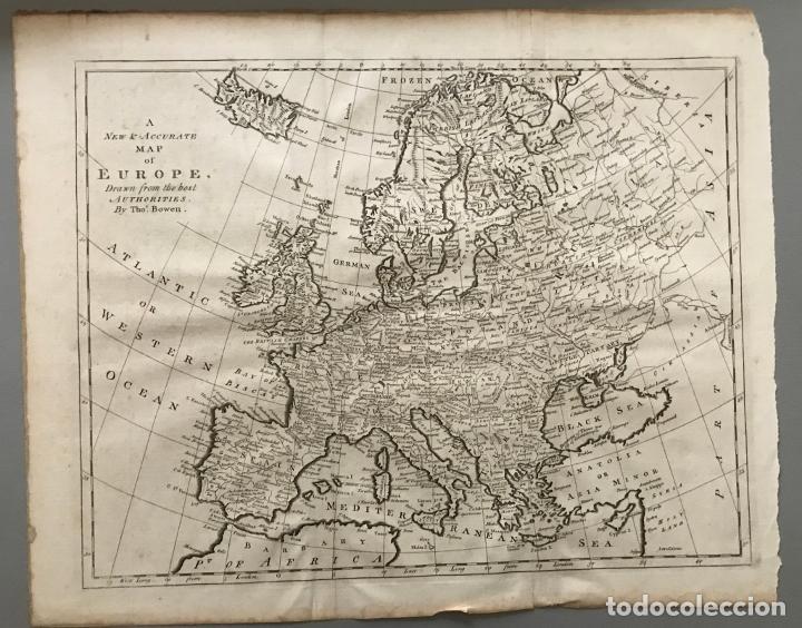 Arte: Gran mapa de Europa, 1780. Bowen - Foto 6 - 281994128