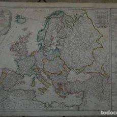 Arte: GRAN MAPA A COLOR DE EUROPA, 1786. DELAMARCHE. Lote 282260858