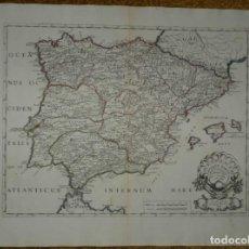 Arte: GRAN MAPA DE ESPAÑA Y PORTUGAL ANTIGUAS, 1694. SANSON / BERTIN / TIPODRAFÍA DEL SEMINARIO. Lote 282263153