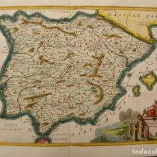 Arte: MAPA DE ESPAÑA Y PORTUGAL EN ÉPOCA ANTIGUA, 1740. CELLARIUS / GLEDITSCH. Lote 282264308