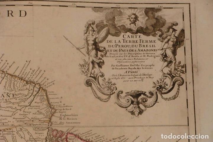 Arte: Gran mapa del norte de América del Sur, 1703. De Lisle / Covens y Mortier - Foto 2 - 282496508