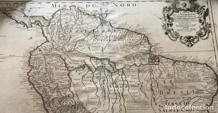 Arte: Gran mapa del norte de América del Sur, 1703. De Lisle / Covens y Mortier - Foto 8 - 282496508