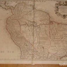 Arte: GRAN MAPA DEL NORTE DE AMÉRICA DEL SUR, 1703. DE LISLE / COVENS Y MORTIER. Lote 282496508