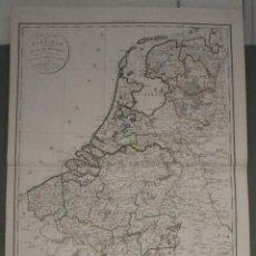 Arte: GAN MAPA DE PAÍSES BAJOS , Y BÉLGICA LUXEMBURGO EUROPA), 1821. DELAMARCHE. & DIEN. Lote 284078893