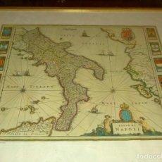 Arte: MAPA THEATRUM ORBIS TERRARUM, SIVE ´´ATLAS NOVUS´´ PARS III (1650) REGNO DI NAPOLI. Lote 284670248