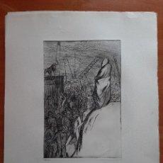 Arte: GIL MORENO DE MORA : AGUAFUERTE - ESE QUE MIRA -. Lote 285387853