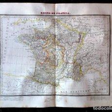 Arte: MAPA REINO DE FRANCIA GRABADO POR PABLO ALABERN EN 1835. CALCOGRÁFICO.. Lote 285673143