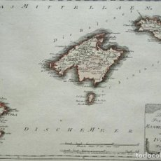 Arte: MAPA DE LAS ISLAS BALEARES (ESPAÑA), 1789. ALBRECHT / BÜISCHING /F. J. JOSEPH VON REILLY. Lote 285674268