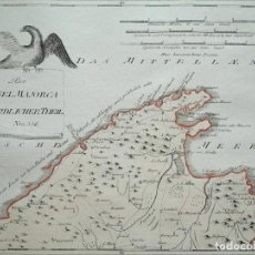 Arte: MAPA DEL NORTE DE LA ISLA DE MALLORCA (BALEARES, ESPAÑA), 1789. F. J. JOSEPH VON REILLY. Lote 285676748