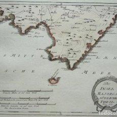 Arte: MAPA DEL SUR DE LA ISLA DE MALLORCA Y CABRERA (BALEARES, ESPAÑA), 1789. F. J. JOSEPH VON REILLY. Lote 285678898