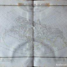 Arte: MAPA MUNDO CONOCIDO DE LOS ANTIGUOS.BARCELONA 1835. PABLO ALABERN. Lote 286151573