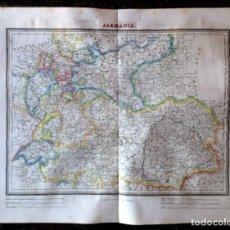 Arte: MAPA CALCOGRÁFICO ALEMANIA GRABADO POR RAMÓN ALABERN. TARDIEU. EN 1835. CALCOGRÁFICO.. Lote 286160808