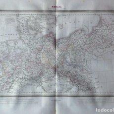 Arte: MAPA PRUSIA CON SUS ADQUISICIONES SOBRE EL RIN BARCELONA 1835. ESTRUÉ. CALCOGRÁFICO.. Lote 286161678