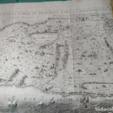 Arte: MAPA DESCRIPCIÓN TIERRA PROMISIÓN CRISTIANO ADRICHOMIO S. XVIII-XIX. Lote 286752308