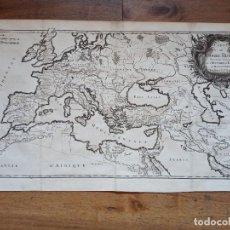 Arte: ESPLÉNDIDO MAPA DEL IMPERIO ROMANO, ORIGINAL, 1742, PARIS, VANGOUDY / LATTRÉ, GRAN TAMAÑO. Lote 286881513