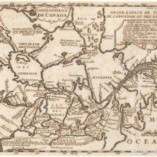 Arte: MAPA DE CANADÁ Y 8 GRABADOS DE TRIBUS INDÍGENAS (MÉMOIRES DE L'AMÉRIQUE SEPTENTRIONALE, 1708). Lote 287543838