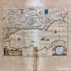 Arte: GRANATA ET MURCIA REGNA. [ REINO DE GRANADA Y MURCIA]. MAPA CALCOGRÁFICO. CA. 1662. GRABADO ORIGINAL. Lote 287558253