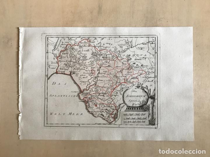 Arte: Mapa de Cádiz y Málaga (España), 1789. F. J. Joseph von Reilly - Foto 2 - 287679358