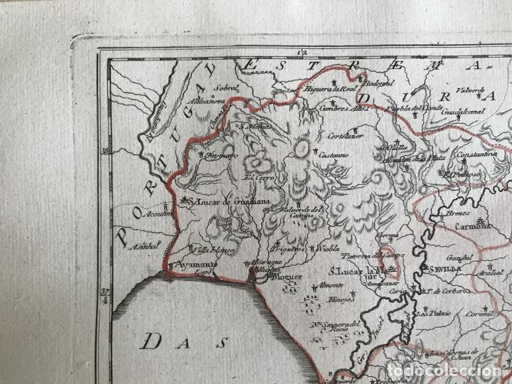 Arte: Mapa de Cádiz y Málaga (España), 1789. F. J. Joseph von Reilly - Foto 4 - 287679358